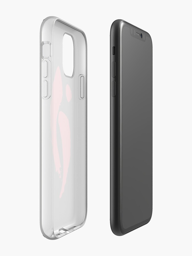 coque personnalisable iphone - Coque iPhone «Harmonie tranquille - équilibre cramoisi», par Restrepo
