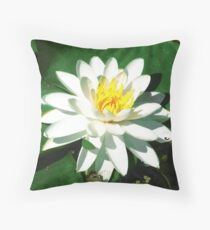 Lily on the Water Throw Pillow