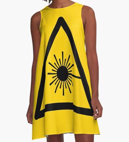 Warning Laser Radiation A-Line Dress