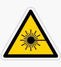 Warning Laser Radiation Sticker
