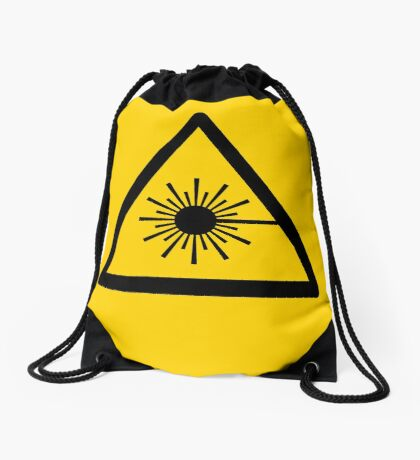 Warning Laser Radiation Drawstring Bag