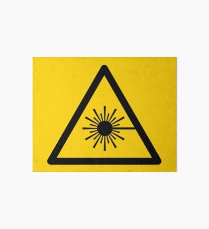 Warning Laser Radiation Art Board Print