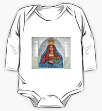 Our Lady of the Grapes Mexican Tile One Piece - Long Sleeve