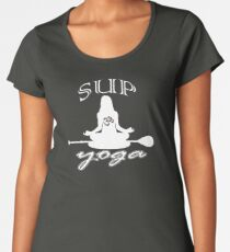 SUP yoga pose Stand Up Paddle Boarding Women's Premium T-Shirt