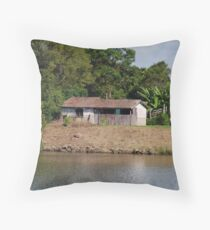 Dumaresq Island Shack Throw Pillow
