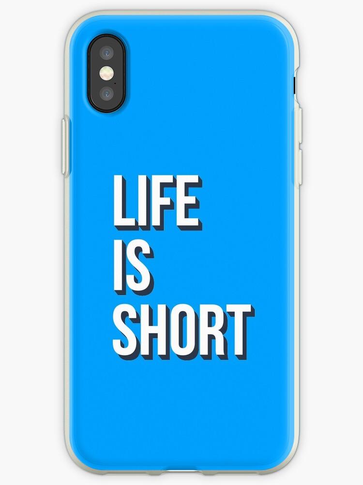 Life is short phrase lettering design by Selene Da Silva