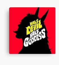 Half Devil Half Goddess Canvas Print