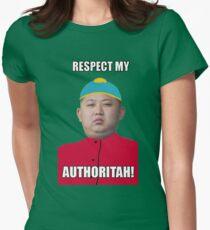 Respect My Autoritah Kim jong un t-shirt Womens Fitted T-Shirt