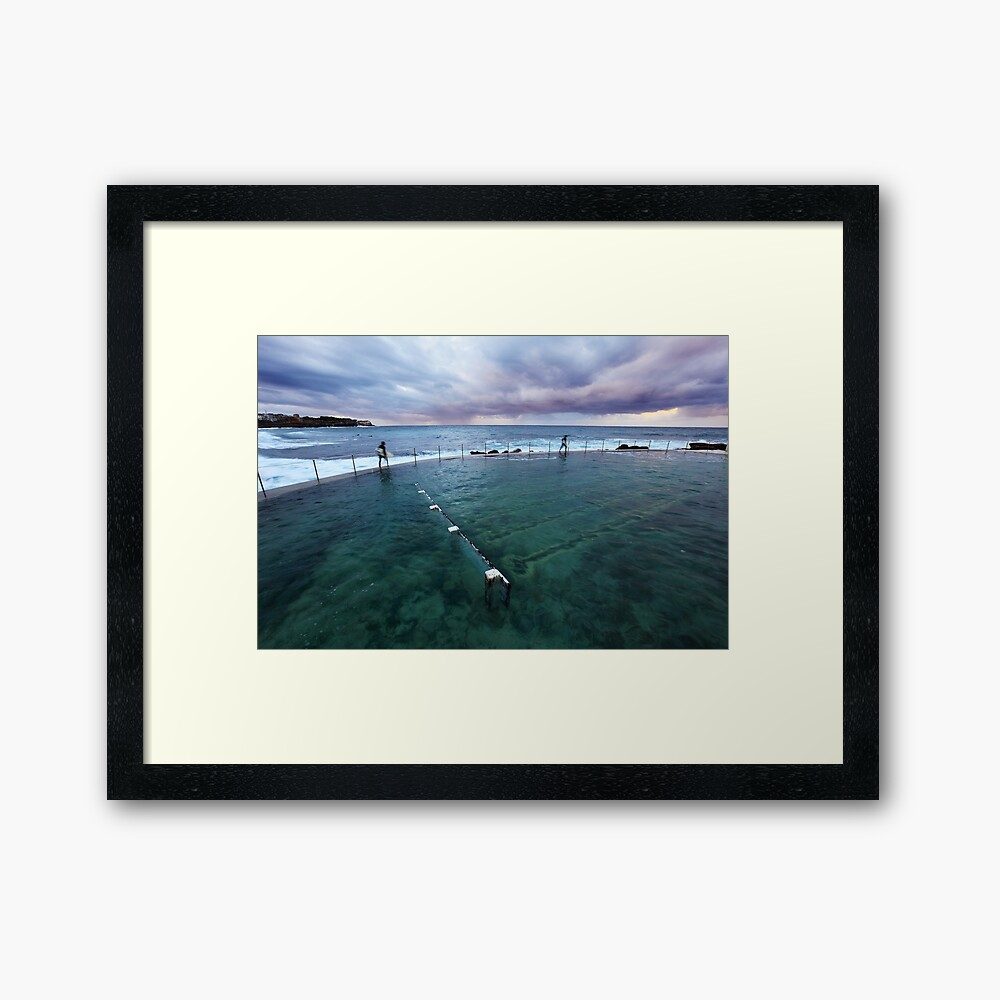 Bronte Beach Baths, Sydney, Australia Framed Art Print