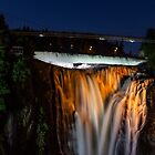 Montmorency Falls at night by Manon Boily