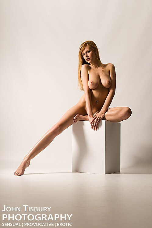 Nude and cube by John Tisbury