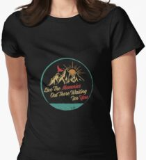 Live The Memories Out There - Camping Women's Fitted T-Shirt