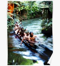 Maori War Canoe 2 Poster