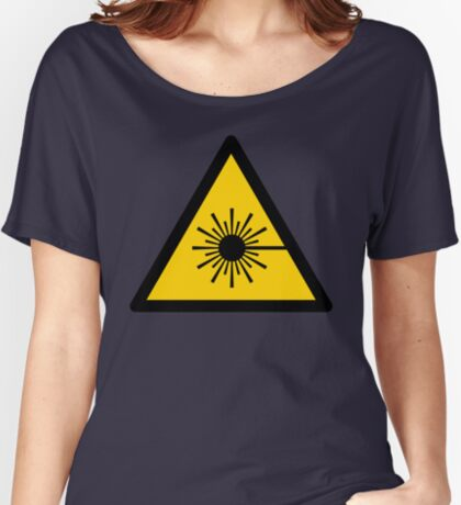 Warning Laser Radiation Relaxed Fit T-Shirt