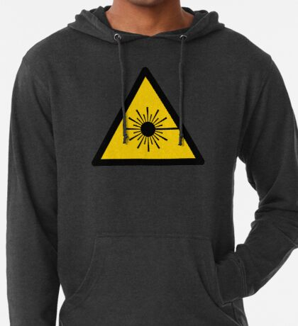 Warning Laser Radiation Lightweight Hoodie