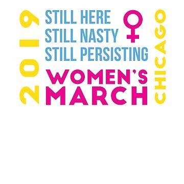 Women's March Chicago Illinois January 2019 by oddduckshirts