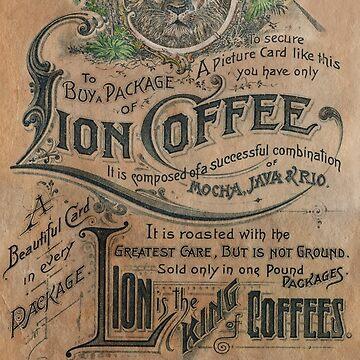 Vintage Lion Coffee Ad by dianegaddis