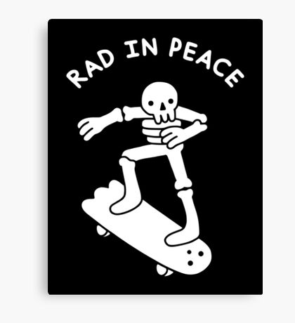 Rad In Peace Canvas Print
