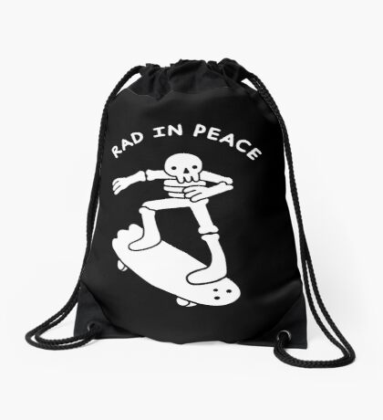 Rad In Peace Drawstring Bag