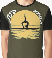 SUP yoga pose Stand Up Paddle Boarding Graphic T-Shirt