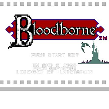 8-Bit Bloodborne Title Screen by phoenix529