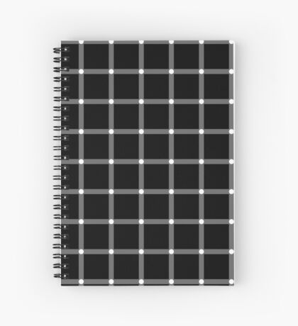 Scintillating Grid Spiral Notebook