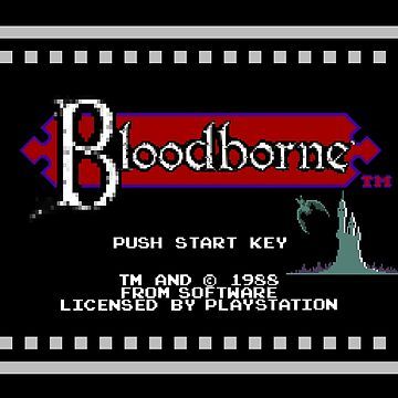 8-Bit Bloodborne Title Screen(Alternate Version with Black Background) by phoenix529