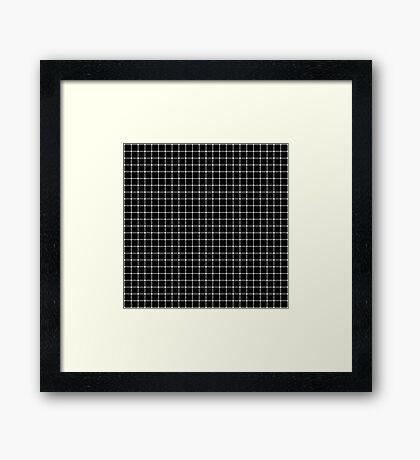 Scintillating Grid Framed Print
