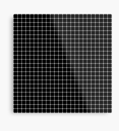 Scintillating Grid Metal Print