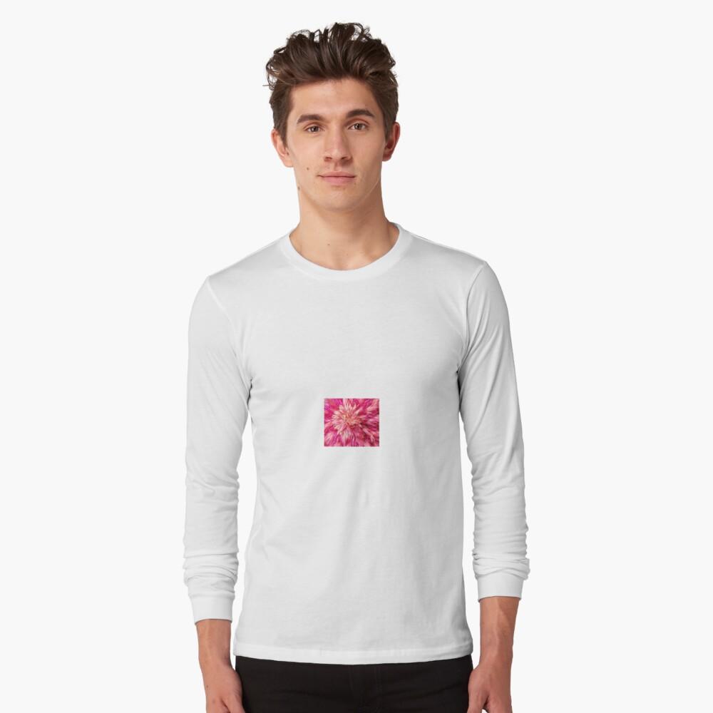 Grafisches rosa Jahrbuch Langarmshirt