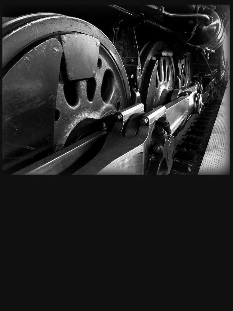 Steam Engine Wheels in Black and White by douglasewelch