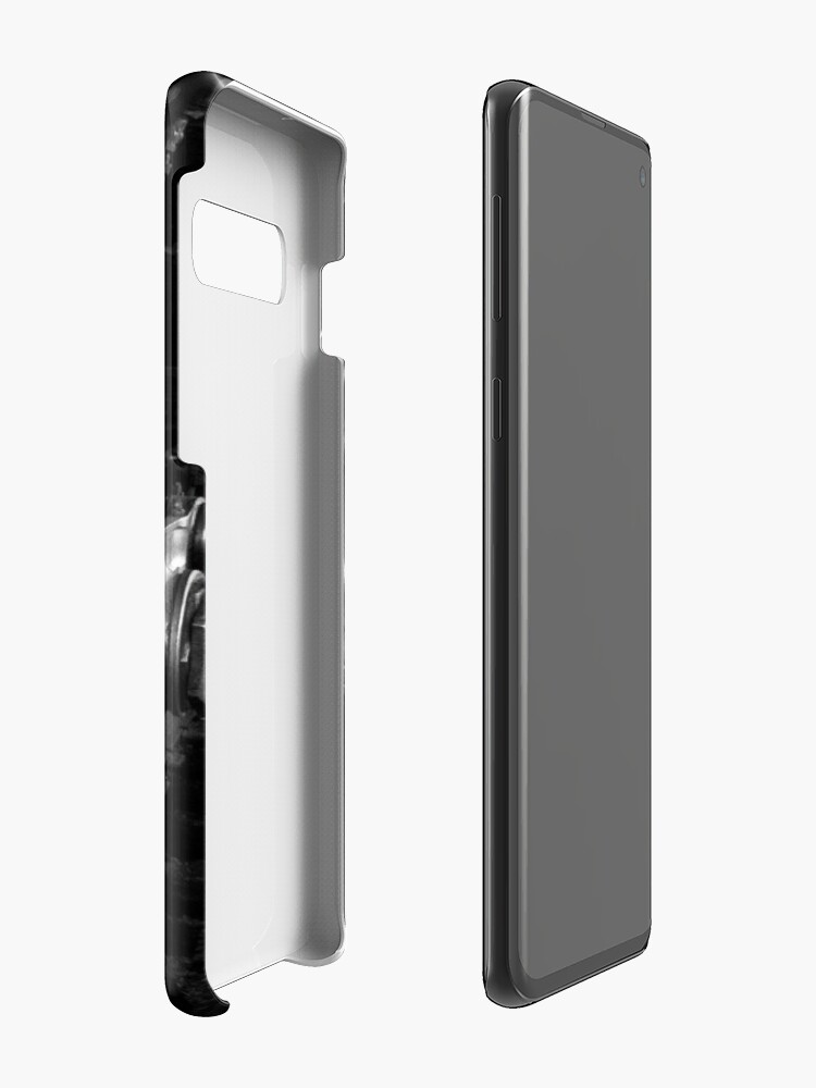 Alternate view of Steam Engine Wheels in Black and White Case & Skin for Samsung Galaxy