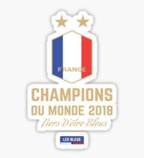 France Champion Du Monde 2018 Maillot - France World Cup Champions Wear - France Coupe Du Monde 2018 Gear  Sticker