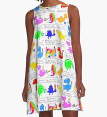 The Dinosaur Birthday Party, The Book of Yawns, Adventure 2 A-Line Dress