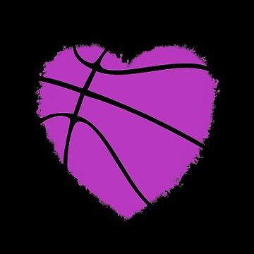 Purple Basketball Heart by Distrill