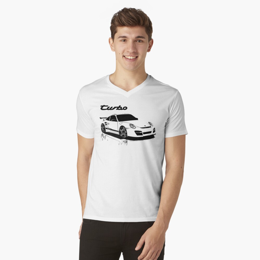 turbo - porsche 911 Camiseta de cuello en V