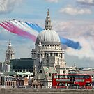 VE Day 70 Years On - The Red Arrows Over London 2015 by Colin  Williams Photography