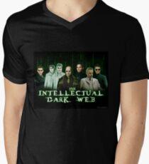 Das intellektuelle dunkle Netz - Matrix-Parodie T-Shirt mit V-Ausschnitt