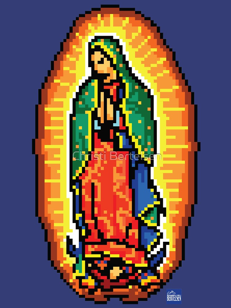 Our 8bit Lady of Guadeloupe by Nofoodforyou2