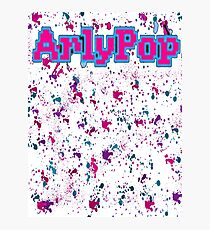 Simply Arlypop Splatter Design Photographic Print
