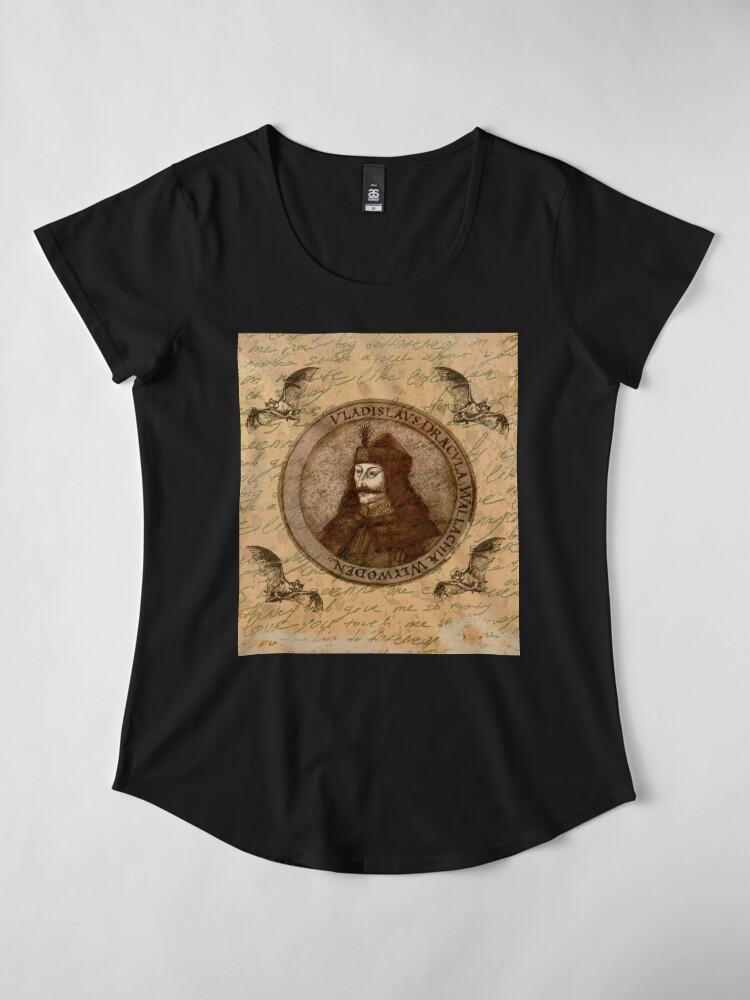 Alternative Ansicht von Graf Vlad Dracula Premium Rundhals-Shirt