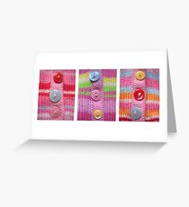 Candiland Cardigans Greeting Card