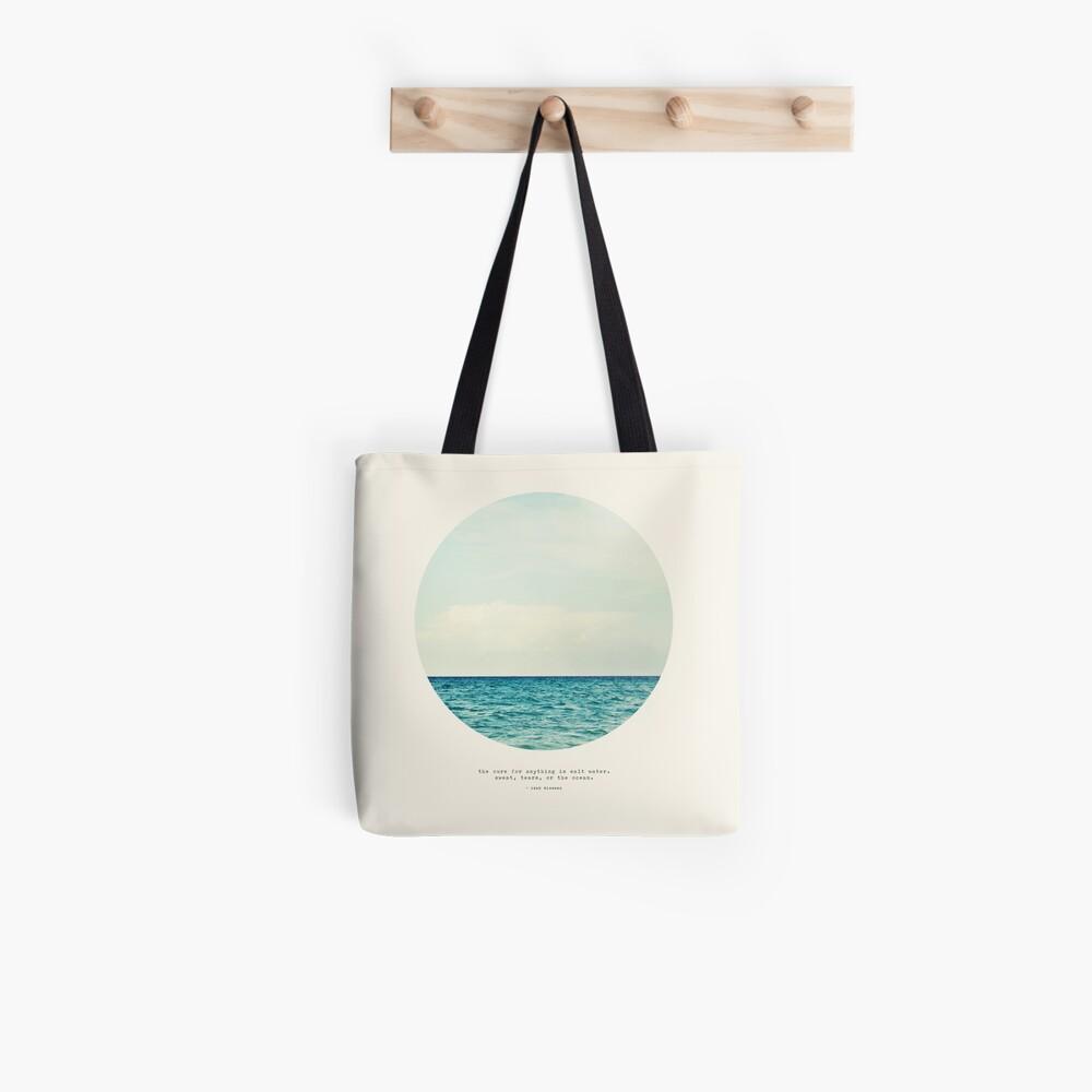 Salt Water Cure - Circle Print Tote Bag
