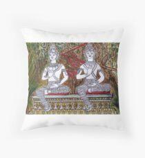 Vientiane Garden Laos Throw Pillow