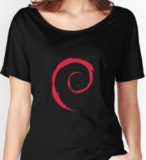 Debian Spiral Linux T Shirt Women's Relaxed Fit T-Shirt
