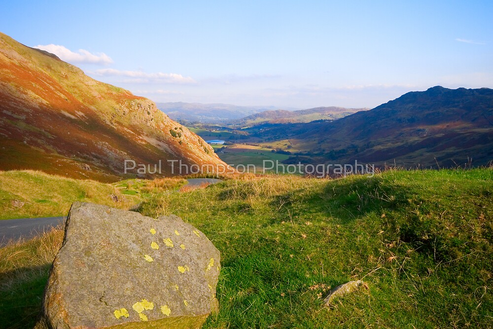 Wrynose Pass into Little Langdale  by Paul Thompson Photography