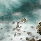 Byron Bay Midnight Ocean Rocks © Vicki Ferrari by Vicki Ferrari