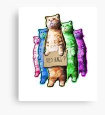 Need Hugs? Canvas Print