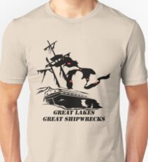 Great Lakes, Great Shipwrecks - Black Unisex T-Shirt