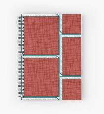 Alphabets - RED | YWZMHS 8 Spiral Notebook